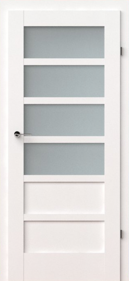 vidaus durys, verte a4, baltos, dažytos