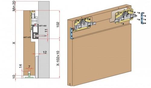 Stumdomų durų sistema Diva Internetu