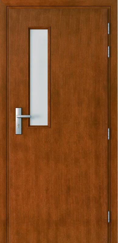 priešgaisrinės durys, medinės, laminuotos, EI60, stiklo intarpai
