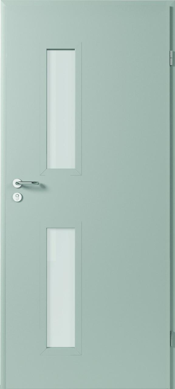 durys internetu, metalinės, stiklo intarpas