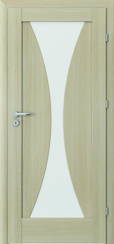 durys internetu, laminuotos, įsprūdinės, Verte, stiklo intarpas