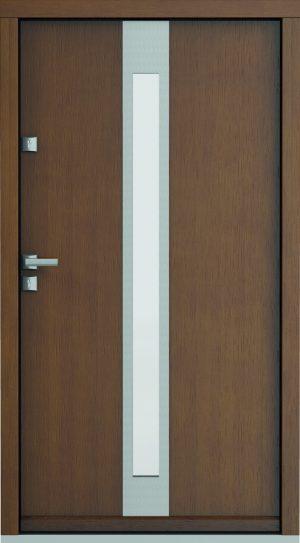 durys internetu, faneruotos, natūralaus ąžuolo lukšto, Eco Polar, stiklo intarpas