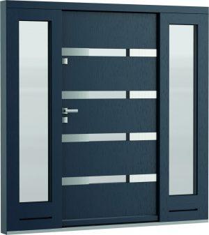 durys internetu, faneruotos, natūralaus ąžuolo lukšto,mėlynos, Eco Polar, stiklo intarpas
