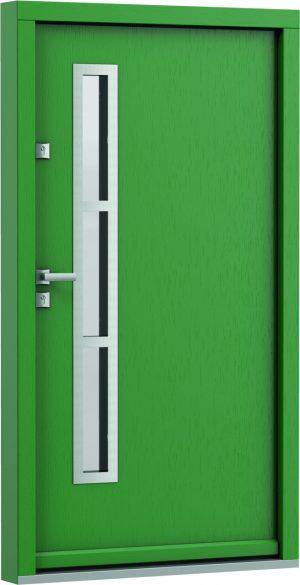 durys internetu, faneruotos, natūralaus ąžuolo lukšto, Eco Polar, stiklo intarpas, žalios