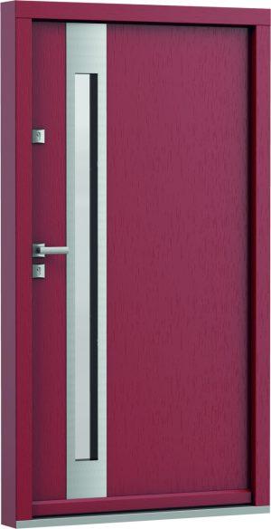 durys internetu, faneruotos, natūralaus ąžuolo lukšto, Eco Polar, stiklo intarpas, violetinės