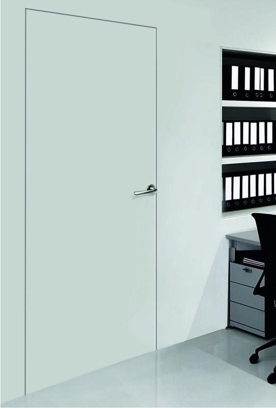 baltos, dažytos, vidaus durys, be langų, nematomos durys