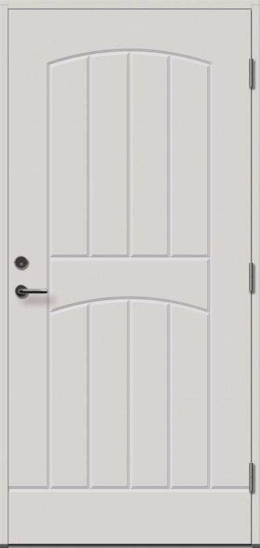 baltos, dažytos, lauko durys, Gracia