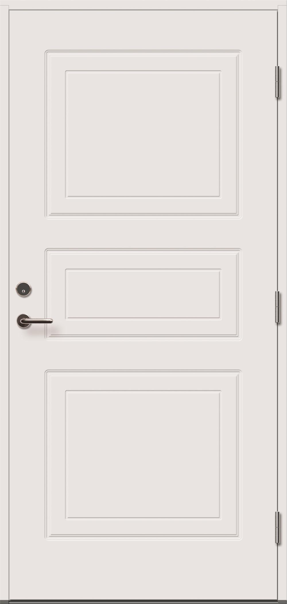 baltos, dažytos, lauko durys, Dulcia